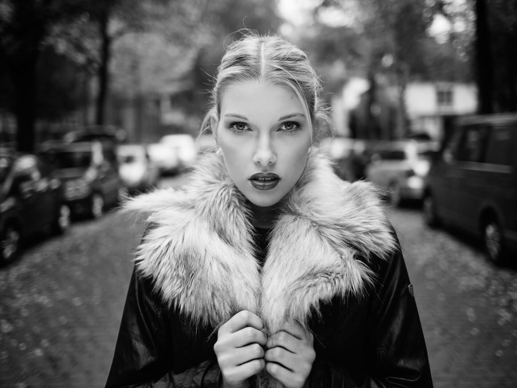 Fashion und Beauty Editorial Nadine Dark Autumn in Mannheim