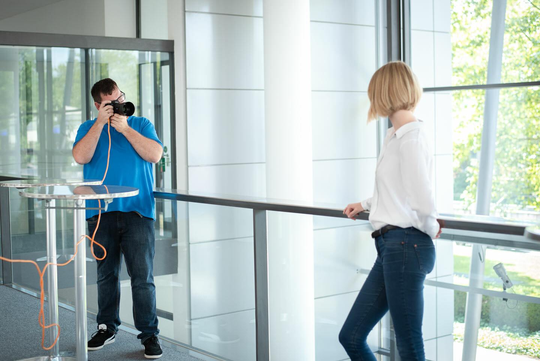 Businessfotografie und Film Behind the scenes