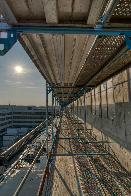Baustellenfotografie Klinikum Karlsruhe Industriefotografie