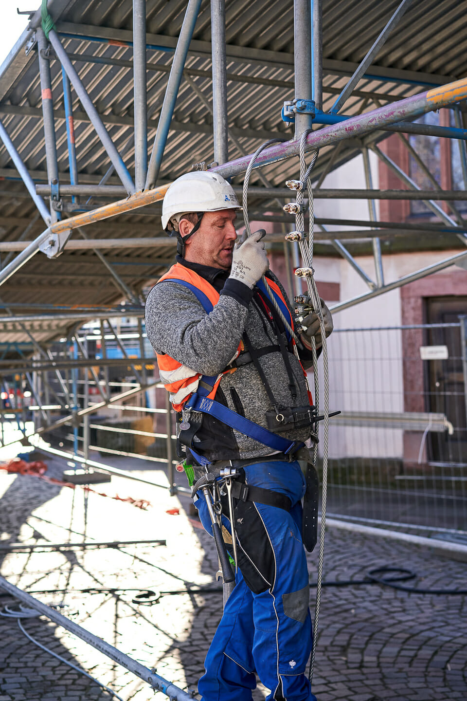 Industriefotografie Baustellenfotografie Ettlingen Burkart Gerüstbau