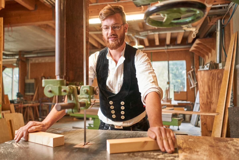 Imagefoto Zimmermann an Bandsäge